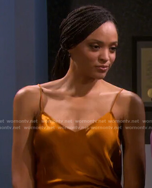 Lani's orange satin camisole on Days of our Lives