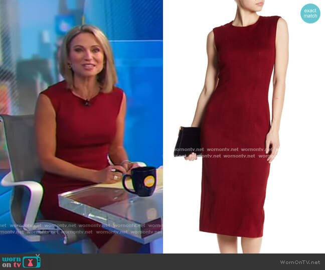 Kimi Suede Dress by Level 99 worn by Amy Robach  on Good Morning America