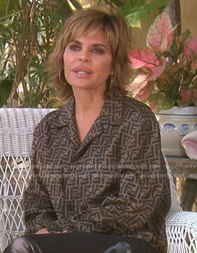 Lisa's Fendi logo print shirt on The Real Housewives of Beverly Hills