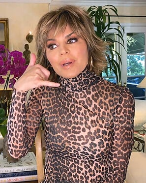 Lisa's leopard turtleneck top on The Real Housewives of Beverly Hills