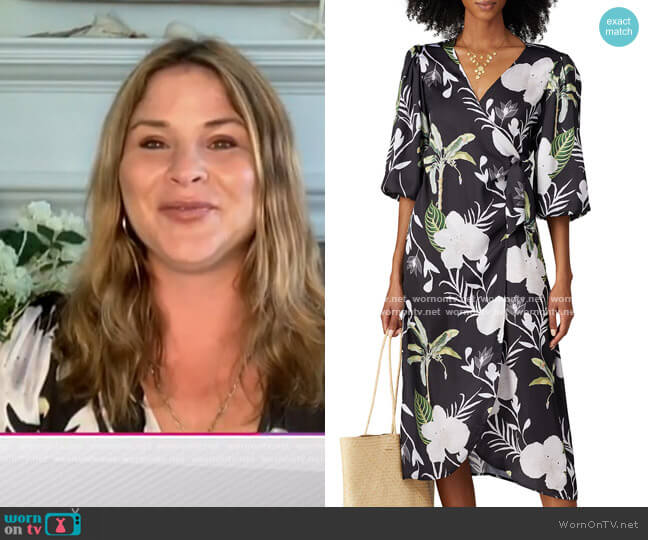 Floral Wrap Around Dress by LoboRosa worn by Jenna Bush Hager  on Today