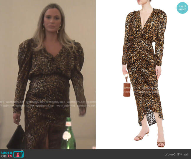 Astrid Dress by Ronny Kobo worn by Teddi Mellencamp Arroyave  on The Real Housewives of Beverly Hills