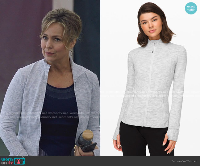 Define Jacket by Lulu Lemon worn by Jacqueline (Melora Hardin) on The Bold Type