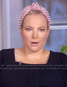 Meghan's pink pearl embellished headband on The View