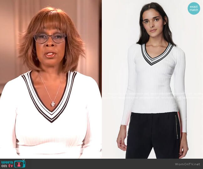 Francesca Pullover by Milly worn by Gayle King  on CBS This Morning