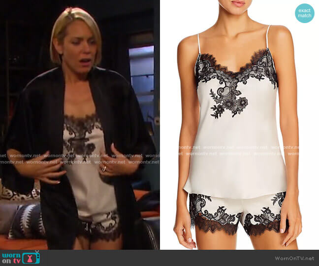 Lace-Trim Cami Tap Set by Natori worn by Nicole Walker (Arianne Zucker) on Days of our Lives