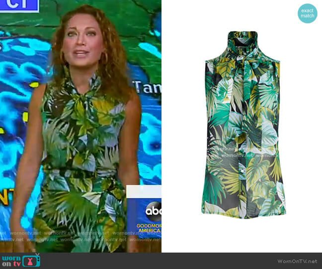 Ginger Bow Blouse - Eva Mendes Collection by New York & Company worn by Ginger Zee  on Good Morning America
