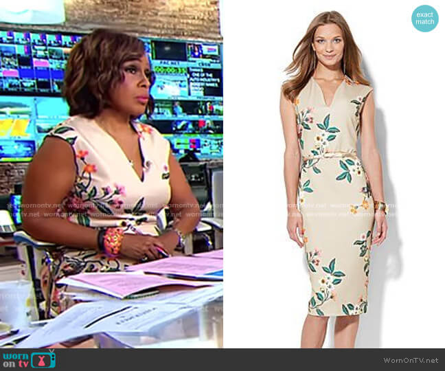 Flora Sheath Dress - 7th Avenue by New York & Company worn by Gayle King  on CBS This Morning