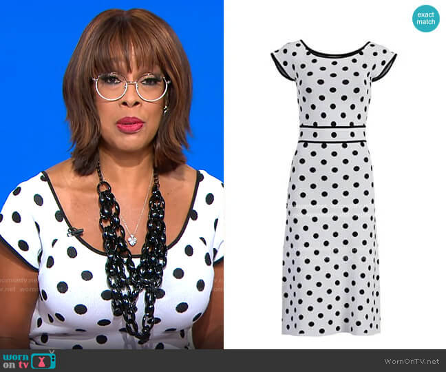 New York & Company Rebecca Dress -Eva Mendes Collection worn by Gayle King  on CBS Mornings