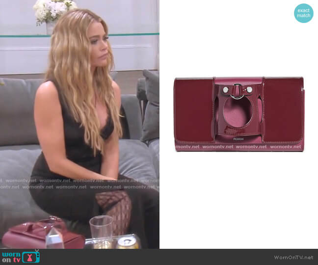 Le Rond Clutch by Perrin Paris worn by Denise Richards  on The Real Housewives of Beverly Hills