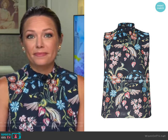 Printed High Neck Top by Peter Pilotto worn by Dylan Dreyer  on Today