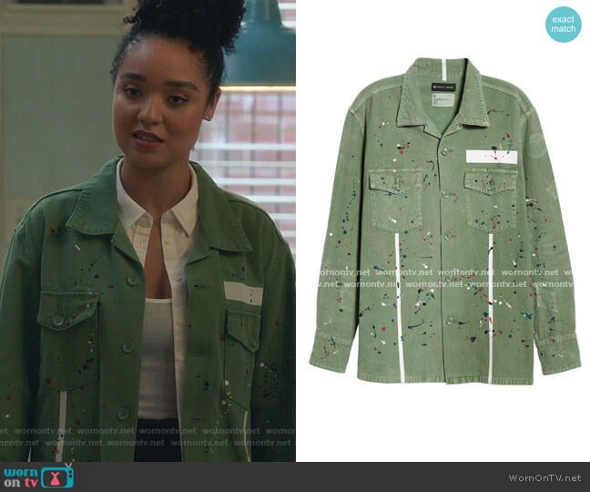 The Carson Fatigue Shirt by Purple worn by Kat Edison (Aisha Dee) on The Bold Type