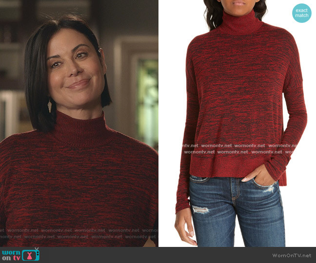 Bowery Knit Turtleneck by Rag & Bone worn by Cassandra Nightingale (Catherine Bell) on Good Witch