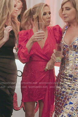 Ramona's red satin puff dress on The Real Housewives of New York City