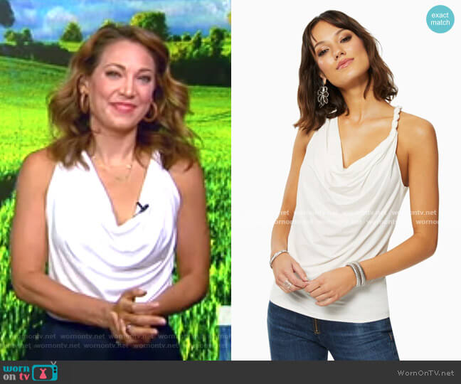 Bryce Top by Ramy Brook worn by Ginger Zee  on Good Morning America