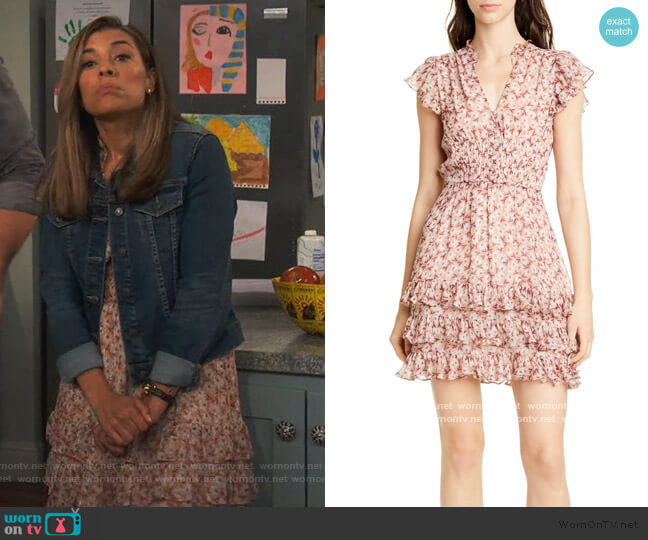 Lucia Metallic Silk Blend Chiffon Mini Dress by Rebecca Taylor worn by Jo (Christina Vidal Mitchell) on United We Fall