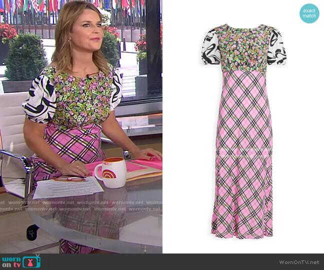 Winnie Dress by Rixo worn by Savannah Guthrie  on Today