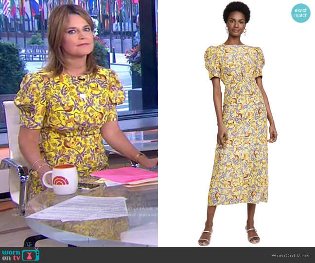 Bianca Dress by Saloni worn by Savannah Guthrie  on Today