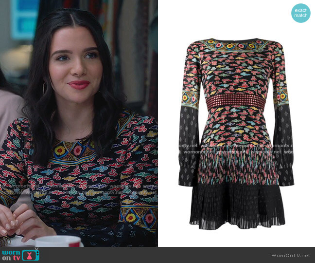Patchwork Pleated Dress by Saloni worn by Jane Sloan (Katie Stevens) on The Bold Type
