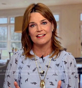Wornontv Savannah S Blue Floral Top On Today Savannah Guthrie Clothes And Wardrobe From Tv