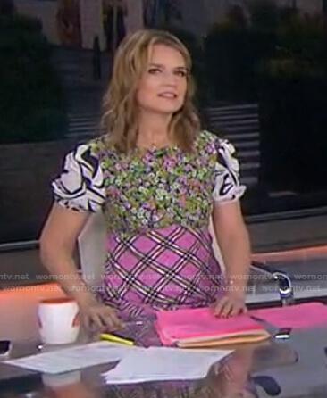 Savannah's mixed print dress on Today