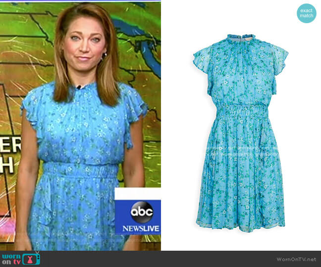 Amora Dress by Shoshanna worn by Ginger Zee  on Good Morning America