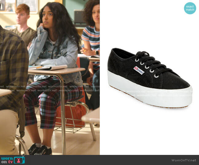 2790 ACOTW Platform Sneakers by Superga  worn by Devi Vishwakumar (Maitreyi Ramakrishnan) on Never Have I Ever