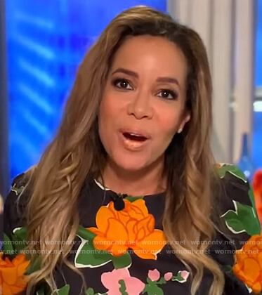 Sunny's black floral top on The View