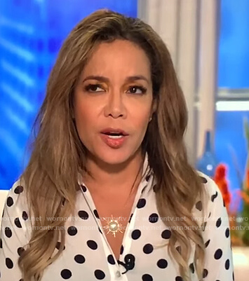 Sunny's white polka dot blouse on The View