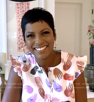 Tamron Hall's hand print dress on Good Morning America