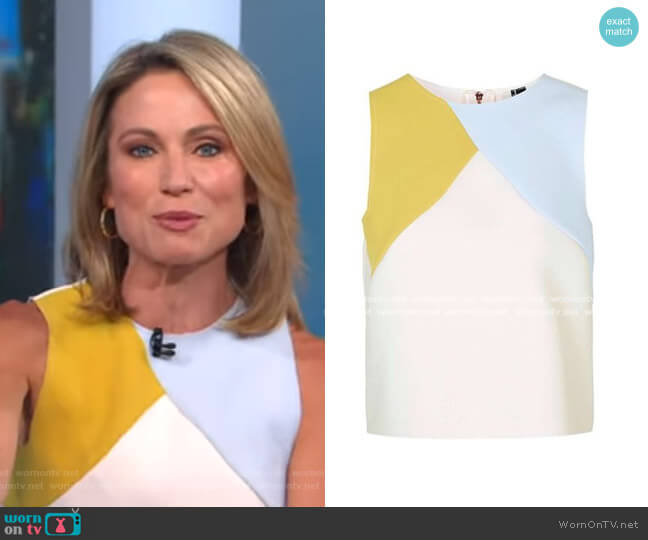 Colorblock Shell by Topshop worn by Amy Robach  on Good Morning America