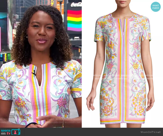 Arboretum Zip Dress by Trina Turk worn by Janai Norman  on Good Morning America