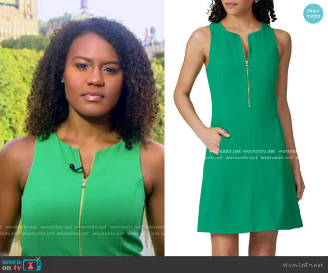 Reef Zip Front Shift Dress by Trina Turk worn by Janai Norman  on Good Morning America