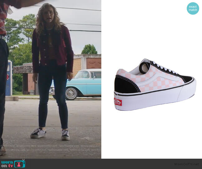 Checkerboard Sneakers by Vans worn by Courtney Whitemore (Brec Bassinger) on Stargirl