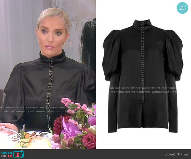 Puff Sleeve Shirt by Vera Wang worn by Erika Girardi  on The Real Housewives of Beverly Hills