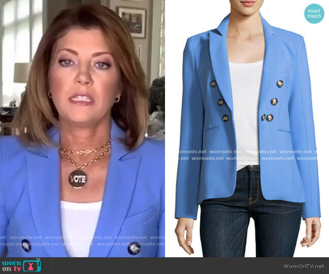 Colson Peak-Lapel Double-Breasted Jacket by Veronica Beard
