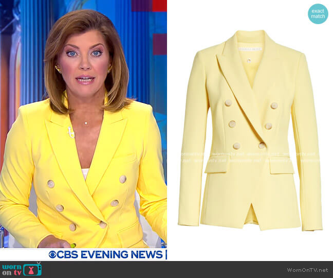Lonny Dickey Jacket by Veronica Beard worn by Norah O'Donnell  on CBS Evening News