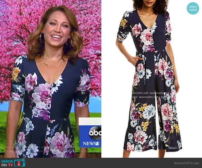 Floral Jumpsuit by Yumi Kim worn by Ginger Zee  on Good Morning America