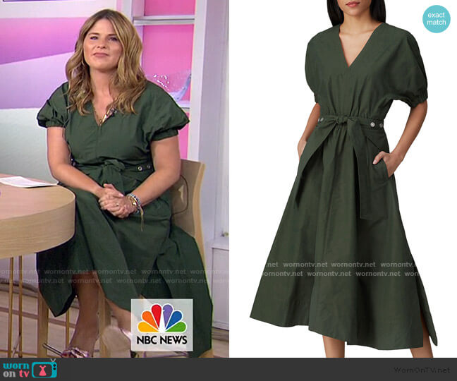 Gathered Sleeve Utility Dress by 3.1 Phillip Lim worn by Jenna Bush Hager  on Today