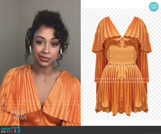 Tami Top by Andrea Iyamah worn by Liza Koshy on Live with Kelly and Ryan