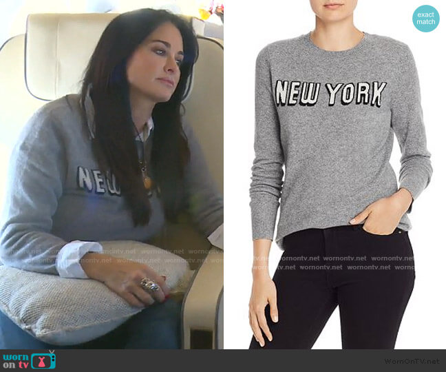 New York Cashmere Sweater by Aqua worn by Kyle Richards  on The Real Housewives of Beverly Hills