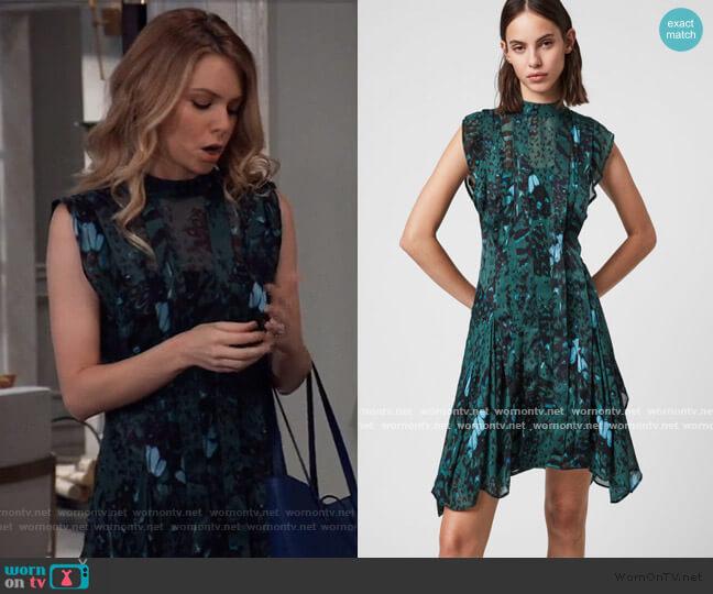 Fleur Wing Dress by All Saints worn by Nelle Benson (Chloe Lanier) on General Hospital