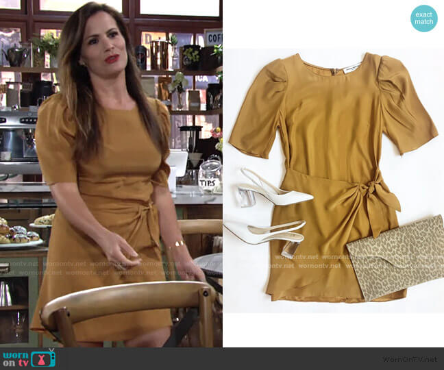 Sherona Dress by Amanda Uprichard worn by Chelsea Lawson (Melissa Claire Egan) on The Young & the Restless