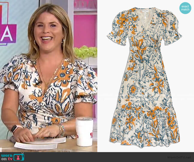 Monterossa Dress by Apiece Apart worn by Jenna Bush Hager  on Today