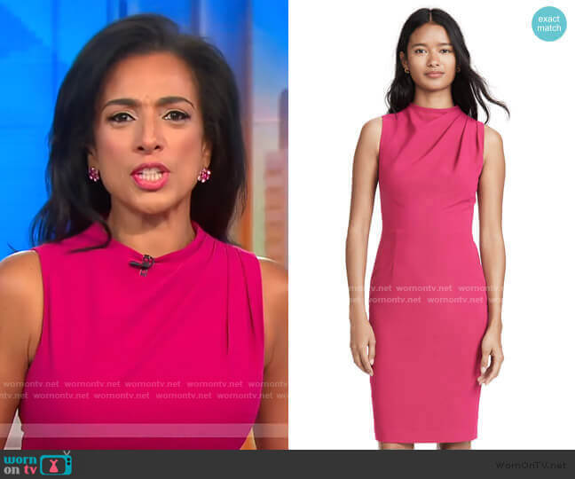 Corrine Sheath Dress by Black Halo worn by Michelle Miller  on CBS This Morning