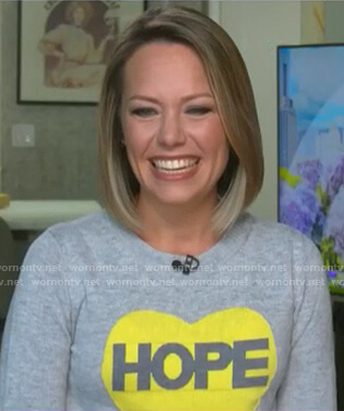 Dylan's grey Hope Sweater on Today