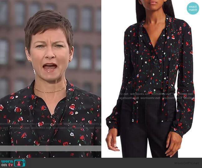 Evadne Floral Blouse by Derek Lam 10 Crosby worn by Stephanie Gosk  on Today