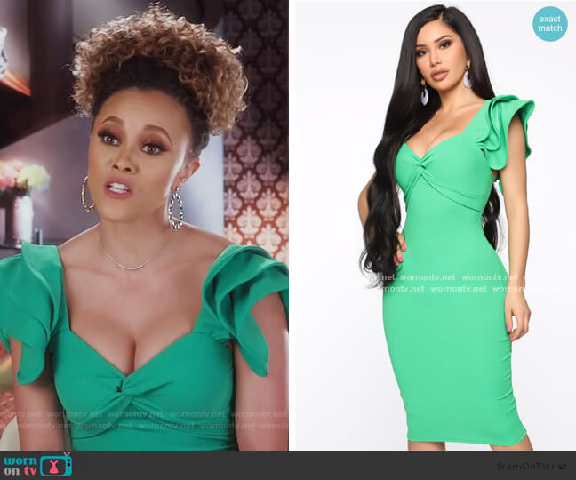 Like What You Do Twist Front Dress by Fashion Nova worn by Ashley Darby  on The Real Housewives of Potomac