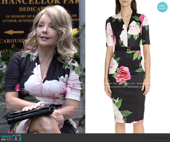 Gilanno Dress by Ted Baker worn by Nikki Reed Newman (Melody Thomas-Scott) on The Young & the Restless