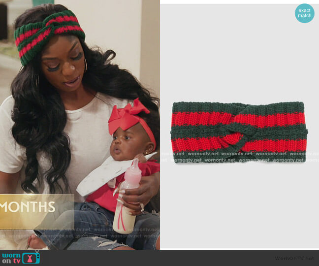 Wool Web headband by Gucci worn by Wendy Osefo  on The Real Housewives of Potomac
